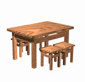 Table with stools Stock Photography