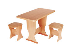 Table and stools Royalty Free Stock Photos