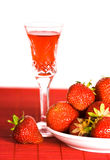 Table with strawberry Royalty Free Stock Image