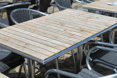 Table in street cafe Royalty Free Stock Image