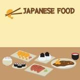 Table sushi stock photo