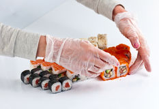 Table with sushi Stock Image