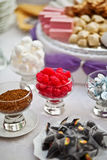 Table sweets. Table of sweets for wedding royalty free stock photos
