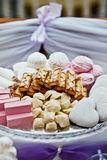 Table sweets. Table of sweets for wedding stock photography