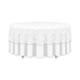 Table with tablecloth Royalty Free Stock Images