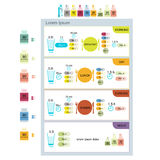 Table of taking pills, infographic for your design Stock Images