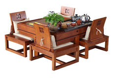 Table for tea ceremony Stock Images