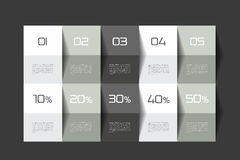 Table template. Schedule table. 3D table. Business table. Brochure table, schedule. Minimalistic table Stock Photography