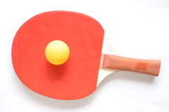 Table tennis. And a ball royalty free stock photo