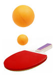 Table tennis. Racket and balls on white background Royalty Free Stock Image