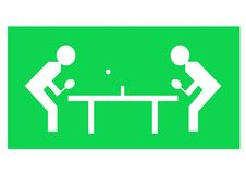 Table tennis. Illustration of two characters playing table tennis Stock Images