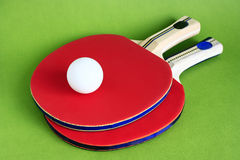 Table Tennis. Racquet and ball for the game of table tennis Royalty Free Stock Images