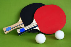 Table Tennis. Racquet and ball for the game of table tennis Royalty Free Stock Photos