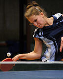 Table tennis action Stock Image