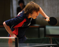 Table tennis action Royalty Free Stock Image