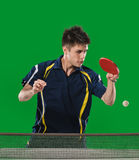 Table tennis action Royalty Free Stock Images