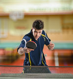 Table tennis action Stock Photo