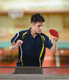 Table tennis action Royalty Free Stock Photos
