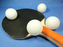 Table tennis ball and bat Royalty Free Stock Image