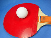 Table tennis ball and bat Stock Photography