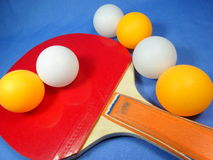 Table tennis ball and bat Royalty Free Stock Photos