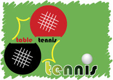 Table tennis banner Royalty Free Stock Photo