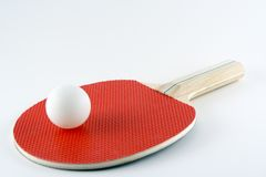 Table Tennis Bat and Ball Royalty Free Stock Photo