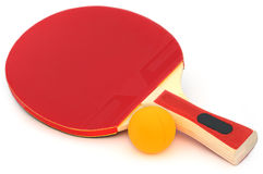 Table tennis bat and ball Royalty Free Stock Photos