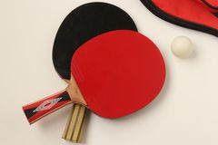 Table tennis bats royalty free stock images