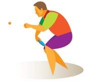 Table tennis champion Stock Image
