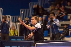 Table tennis competitions Royalty Free Stock Photo