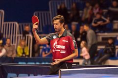 Table tennis competitions Stock Images