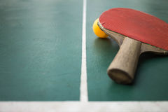 Table tennis on the court Royalty Free Stock Photography