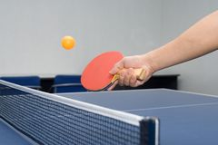 Table Tennis - Drop Shot Royalty Free Stock Image