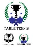 Table Tennis emblem Royalty Free Stock Photos