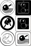 Table tennis emblems and labels Stock Photo