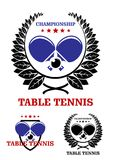Table tennis emblems Stock Image
