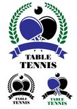 Table tennis emblems set Royalty Free Stock Photography