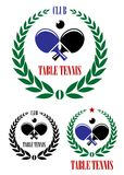 Table tennis emblems and symbols Stock Photos