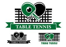 Table Tennis emblems and symbols Royalty Free Stock Image