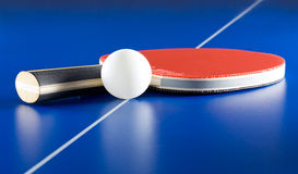 Table tennis equipment Royalty Free Stock Photo