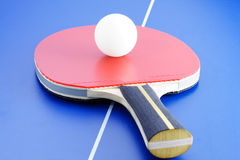 Table tennis equipment Royalty Free Stock Photos