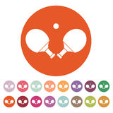 The Table tennis icon. Ping pong symbol. Flat Stock Images