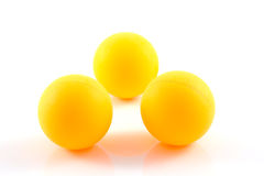 Table tennis orange ball isolated Royalty Free Stock Photography