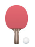 Table Tennis Paddle and Ball Illustration Royalty Free Stock Photography