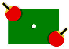 Table tennis paddles Stock Images