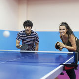 Table Tennis Ping-Pong Friends Sport Concept Royalty Free Stock Photos