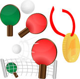 Table tennis. ping pong. Gold medal for first place,  illustration eps10 graphic Stock Images