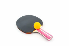 Table tennis (ping-pong) racket and a ball. Stock Image