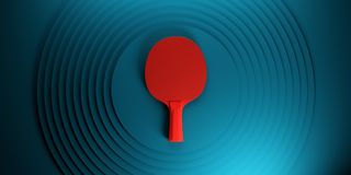 Table tennis or ping pong racket. tournament poster design on abstract color circles backgroung 3d illustration. Table tennis or ping pong racket. tournament stock illustration